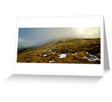 First Snow on the Summit, Mt Buller. Greeting Card