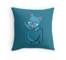 t-shirt Happy pocket Throw Pillow