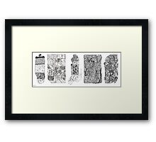 slivers of mind Framed Print