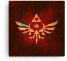 Skyward Sword Paint Orange Canvas Print