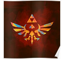 Skyward Sword Paint Orange Poster