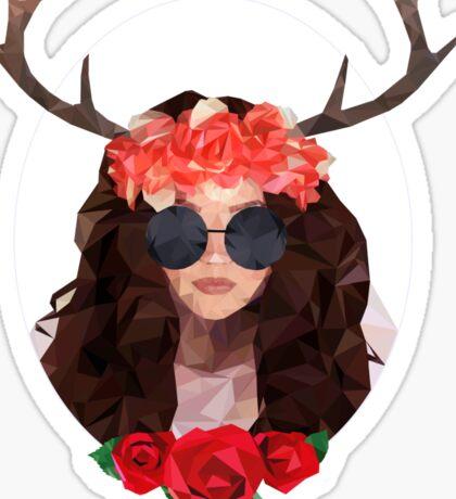 Analog girl in a digital world  Sticker