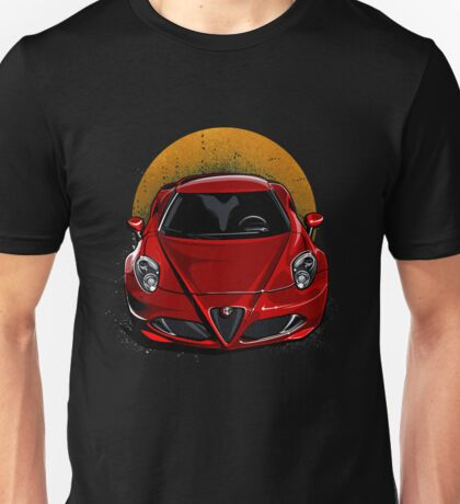 Romeo Supercar on Sunset Unisex T-Shirt