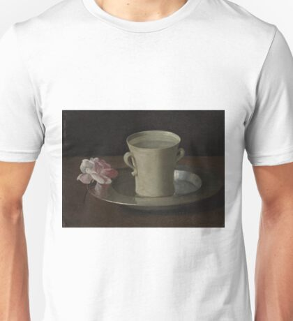 Francisco De Zurbaran - A Cup Of Water And A Rose Unisex T-Shirt
