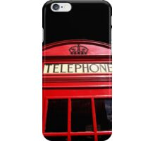 Red London Telephone Box iPhone Case/Skin