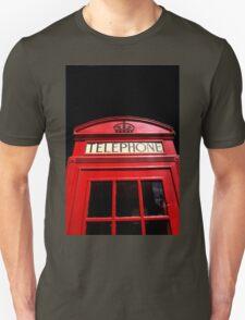 Red London Telephone Box Unisex T-Shirt