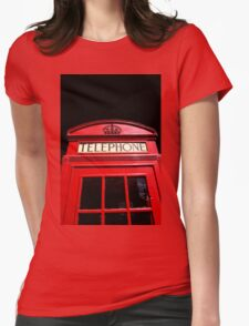 Red London Telephone Box Womens Fitted T-Shirt