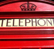 Red London Telephone Box Sticker