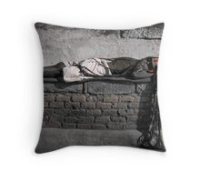 Sleeping Sadhu Throw Pillow
