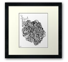 sliced clot Framed Print