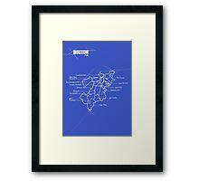 City Blueprints (Boston) Framed Print