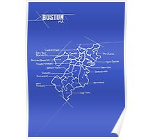 City Blueprints (Boston) Poster