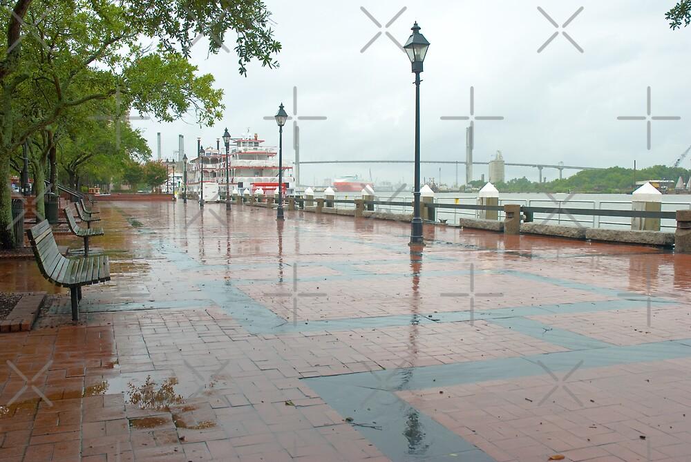 "River Street, Savannah by Arthur ""Butch"" Petty"