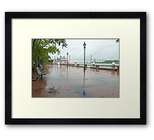 River Street, Savannah Framed Print