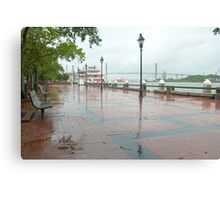 River Street, Savannah Canvas Print