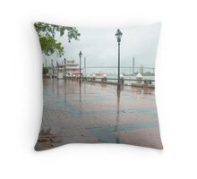 River Street, Savannah Throw Pillow