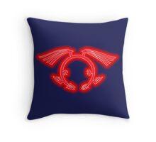 The Crimson Dragon's Mark Throw Pillow