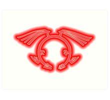 The Crimson Dragon's Mark Art Print