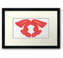 The Crimson Dragon's Mark Framed Print