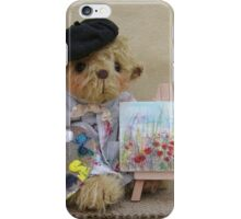 Gustave, artist bear - Handmade bears from Teddy Bear Orphans iPhone Case/Skin