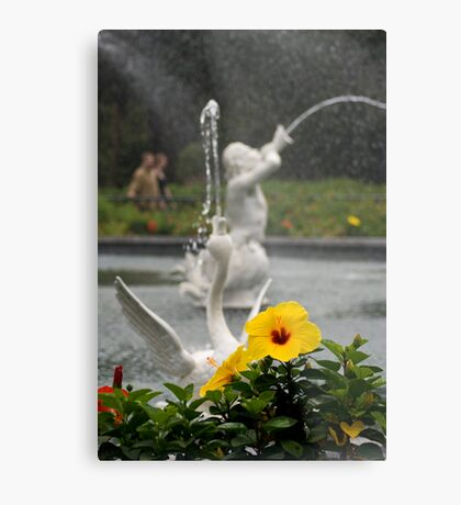 Faountain At Forsyth Park Metal Print