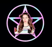 Aubrey Plaza Pentagram by ziggylou