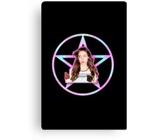 Aubrey Plaza Pentagram Canvas Print