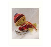 Bamber - Handmade bears from Teddy Bear Orphans Art Print
