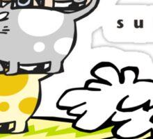 The gentle art of cat surfing (1) Sticker