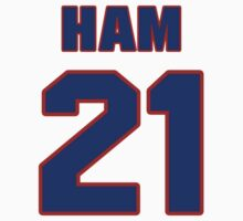 Basketball player Darvin Ham jersey 21 by imsport