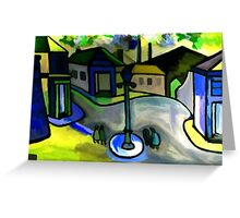 The big lamp (from my original acrylic painting) digitally enhanced) Greeting Card