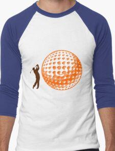 Golfer on the green Men's Baseball ¾ T-Shirt
