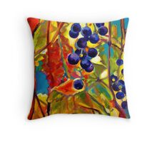Grape Inspiration I Throw Pillow