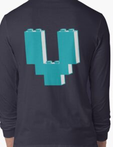 THE LETTER V by Customize My Minifig Long Sleeve T-Shirt