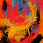 Orange Abstract expressionist Art by signorino