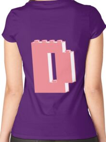THE LETTER D  Women's Fitted Scoop T-Shirt