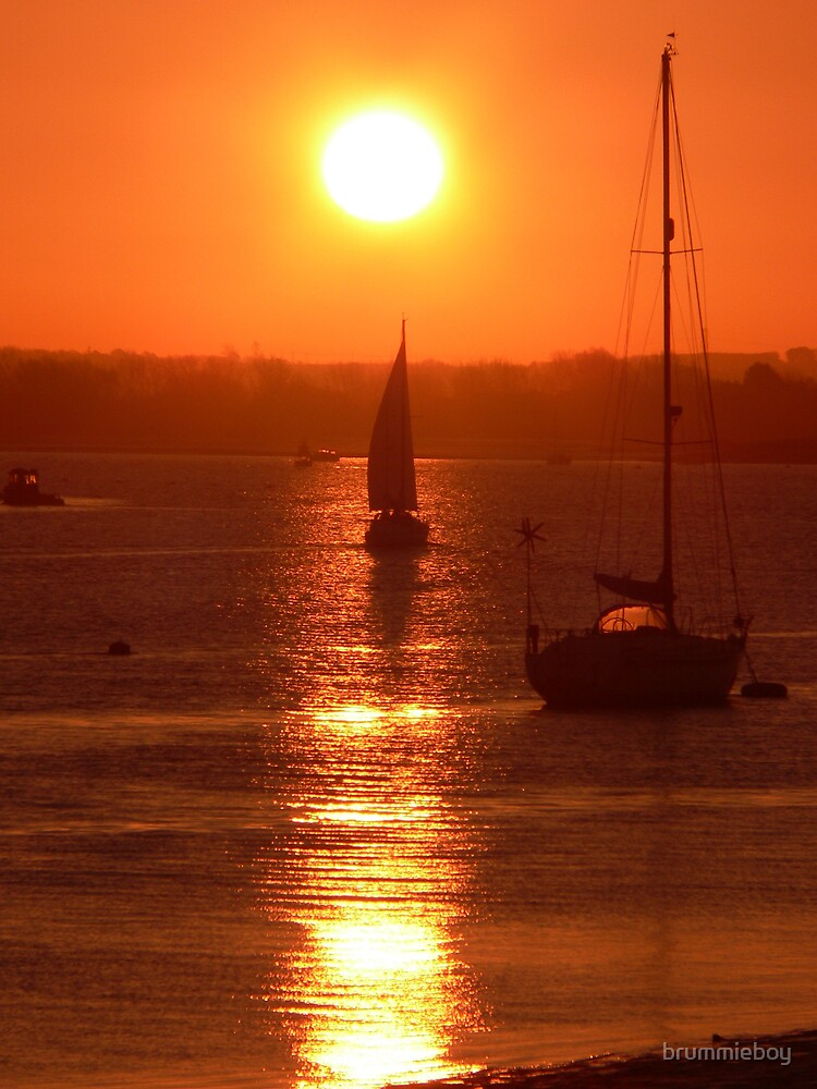 Sailing into the sunrise by brummieboy