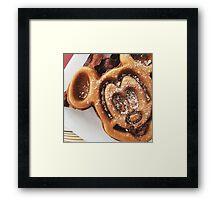 MICKEY shaped waffles  Framed Print