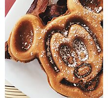 MICKEY shaped waffles  Photographic Print