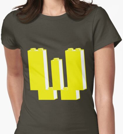 THE LETTER W Womens Fitted T-Shirt