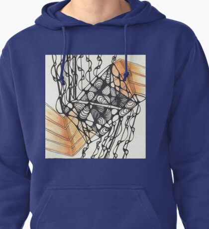 Lines with hints of yellow Pullover Hoodie