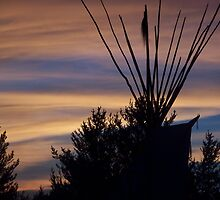 Sunset Tipi by Stephanie Lawrence