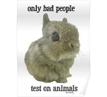 only bad People Test on Animals Poster