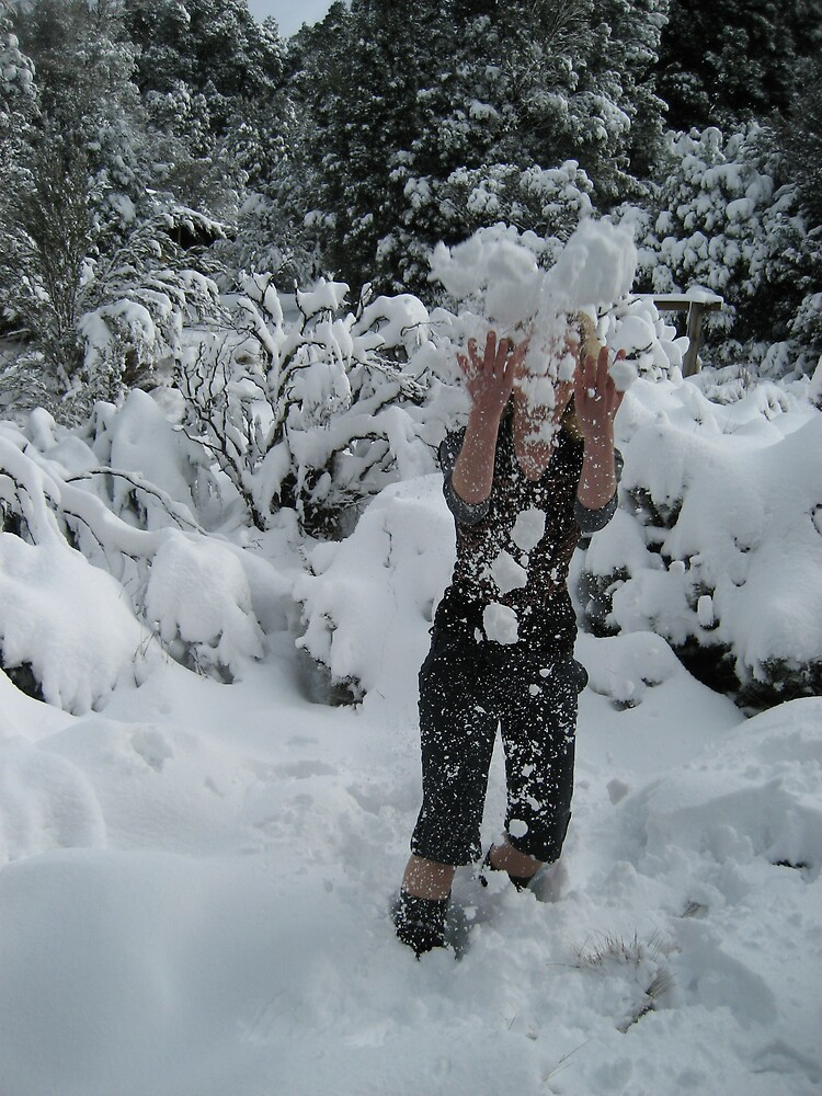fun in the snow - ice in the face! by gaylene