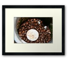 coffee light (As apposed to tea-light) Framed Print
