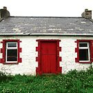 Irish cottage with a red door by Shulie1