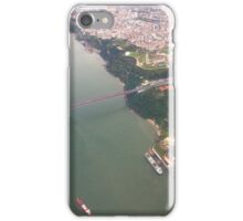 Flight. view to Lisbon bridge and highway to the south. iPhone Case/Skin
