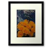 Red, red roses, awash in a sea of green Framed Print