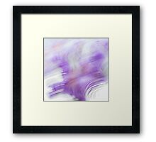 Abstract background in purple and white colors Framed Print