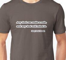 Any fool, Thoreau Unisex T-Shirt